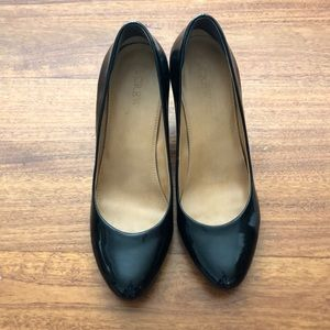 J. Crew patent leather black shoes